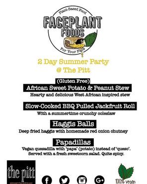 Menu for tomorrow and Sunday _thepittmarket #edinburgh__#vegan #streetfood #veganfood #meatfree #scottishvegan #scotland