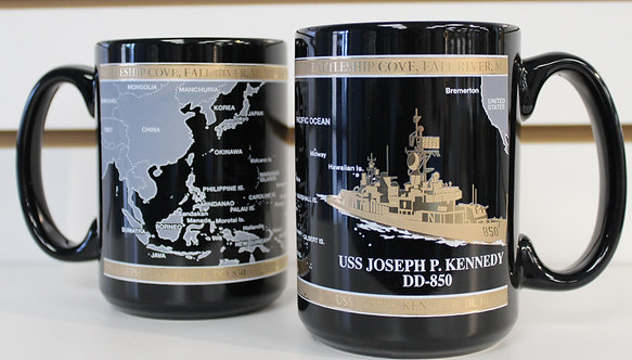 USS Joseph P. Kennedy Jr. DD-850 Black & God Mug