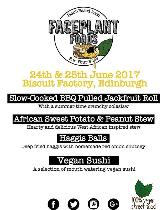 Our menu for over the weekend _biscuitfactoryed__#vegansushi #vegan #edinburgh #jackfruit #summer #veganfood