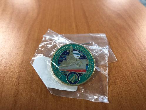 USS Massachusetts Girl Scout Overnight Pin