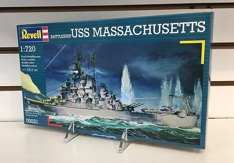 Battleship USS Massachusetts 1:720th Scale Model Kit by Revell