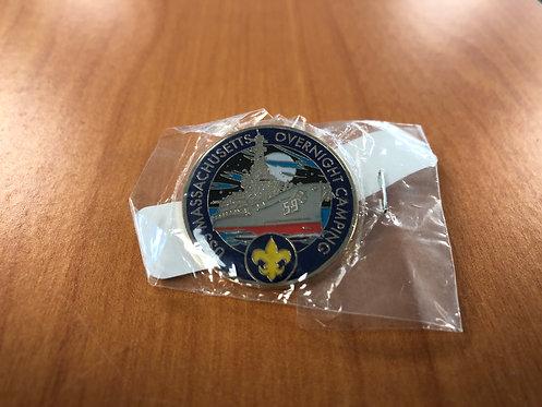 USS Massachusetts Boy Scout Overnight Pin