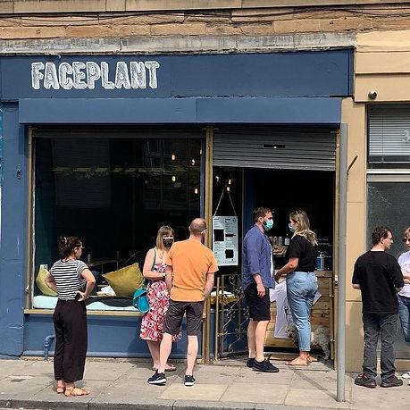 Vegan restaurant cafe Leith FacePlant Edinburgh Shop