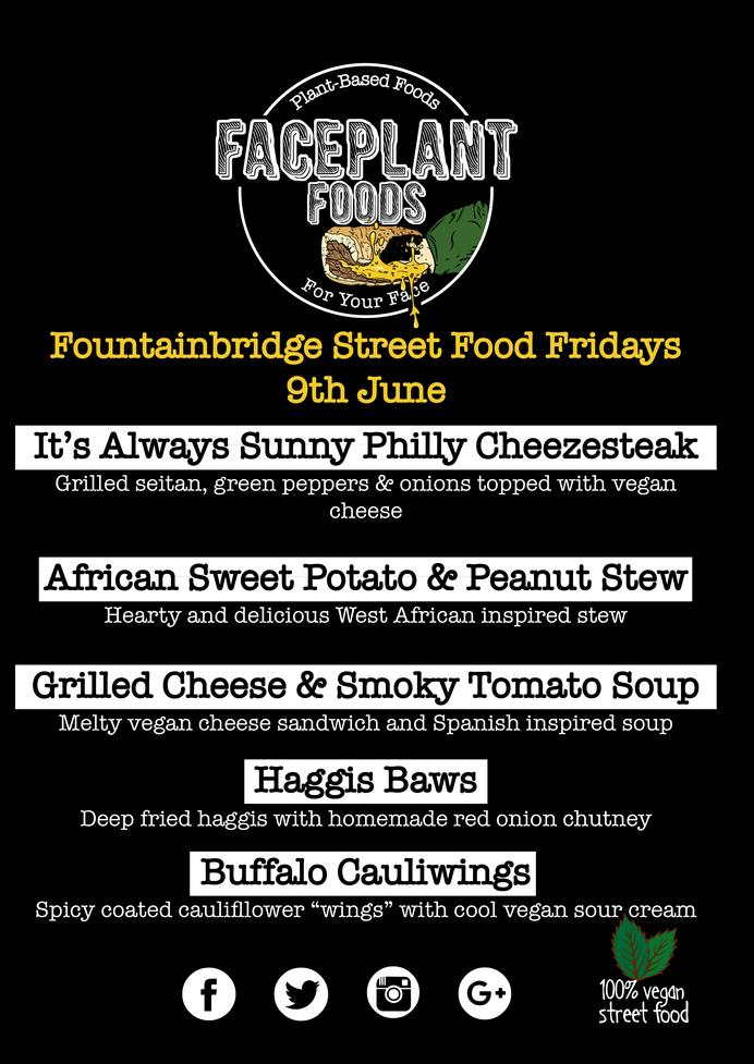 Fountainbridge Street Food Fridays Menu