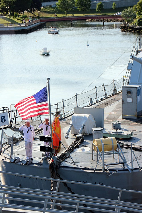 4' x 6' US Flag flown on USS Joseph P. Kennedy Jr.