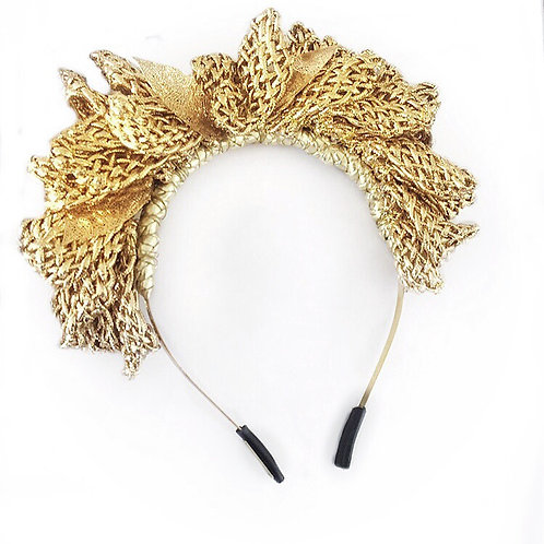 CORDED GOLD LEAVES