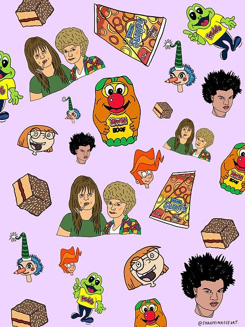 'Aussie Icons' Print