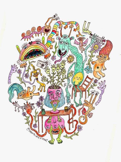 'In My Studio' Print