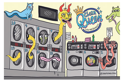 'Creatures of the laundromat' Print