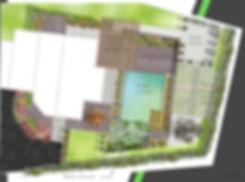 esquisse, plan paysager, jardin, annecy, haute savoie, paysagiste