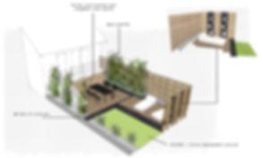 Esquisse jardin annecy