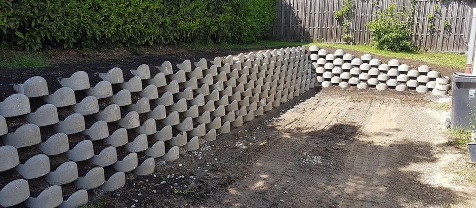 Mur de soutènement en ''ATALUS'' et végétalisé - Poisy