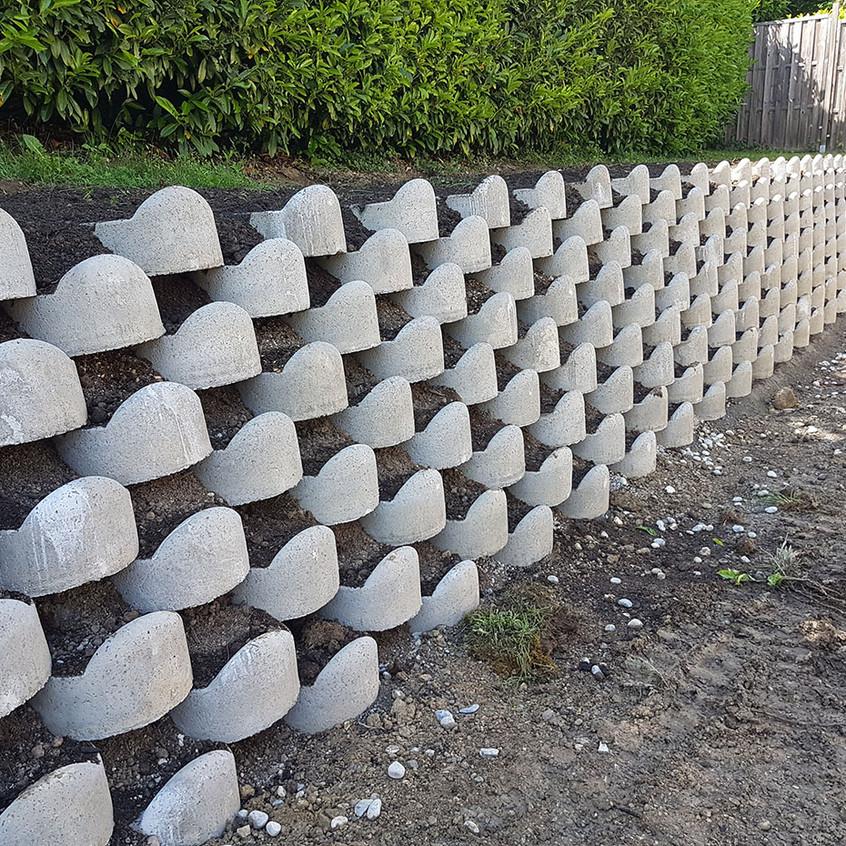 Mur de soutènement en ATALUS