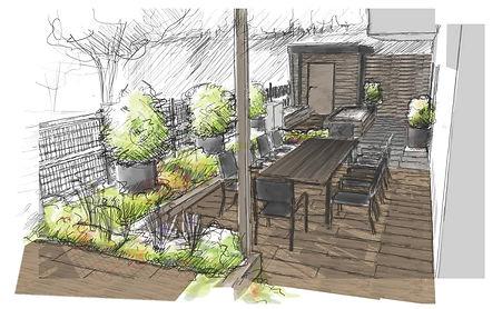 Terrasse jardin aix-les-bains
