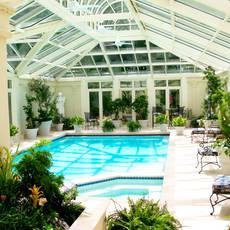 Custom indoor pool & greenhouse