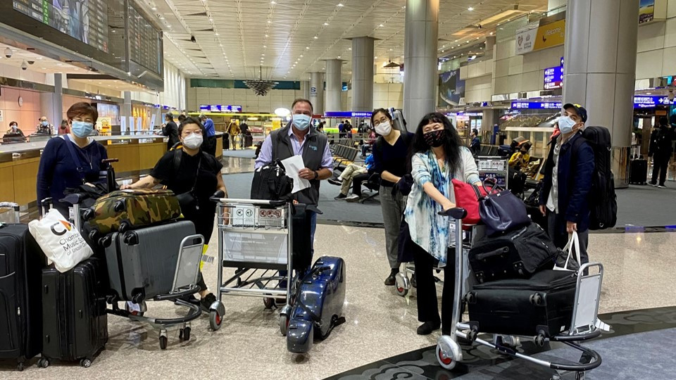 CMS Artists' Arrival at Taipei Airport in November, 2020