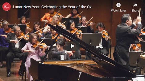 """NEW YORK PHILHARMONIC CELEBRATING THE 2021 LUNAR NEW YEAR 纽约爱乐乐团第十届中国新年音乐会  """"The 2021 Lunar New Year celebration is dedicated to the memory of Shirley Young, a founding Co-Chair of the Philharmonic's Lunar New Year celebrations, for her profound belief in the power of music to forge cross-cultural connections.""""  The event was streamed on Feb 16, 2021. The full video is available until March 2, 2021.  We want to deeply thank New York Philharmonic for this dedication."""