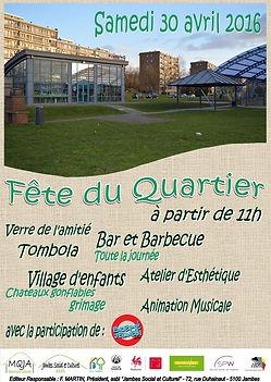 Affiche fête de quartier Petit Ry Jambes