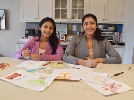 TEEN SISTERS BRING LETTERS AGAINST ISOLATION TO NONPROFIT STATUS