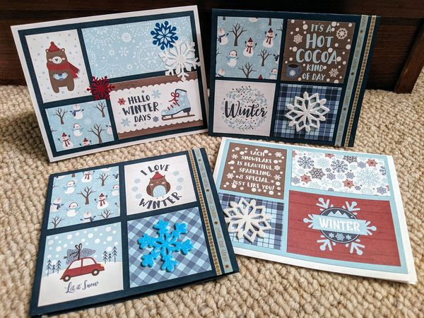 Thank you to our volunteer Susan for creating these beautiful winter themed cards!
