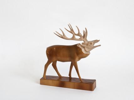 """""""Holzskulptur, Hirsch, Holzschnitzerei, Holzmodelle/ebay Nr.160800222929"""""""