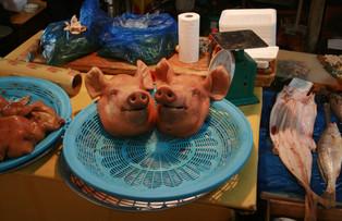 Gepökelte Schweineköpfe