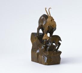 """""""Gams mit Kind, Holz, Oberammergau Handarbeit/ ebay Nr. 270866344286"""""""