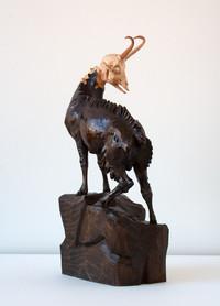 Geschnitzter Gamsbock Gämse Holz / Oberammergauer Schnitzkunst?, ebay Nr.2308809348667