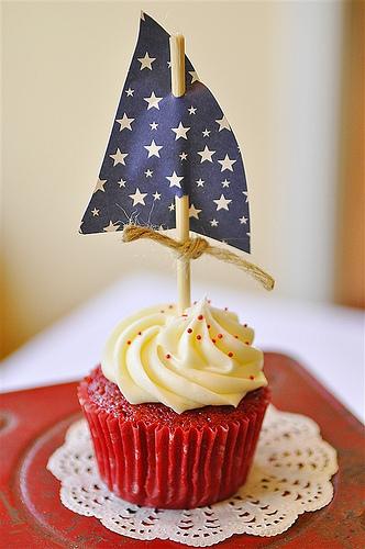 Red Velvet Boat Cupcakes
