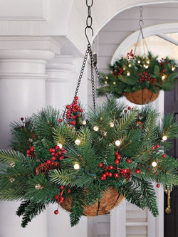Lighted Hanging Greenery