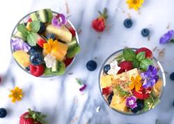 Coconut Pudding & Fruit