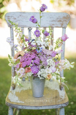Shabby Chic Florals & Chair