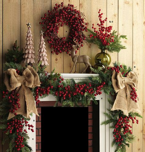 Country Christmas Mantle