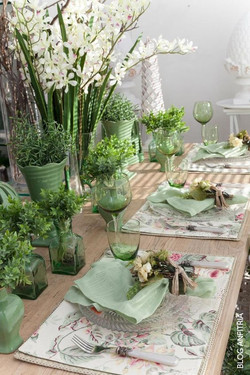 Shades of Green Tablescape