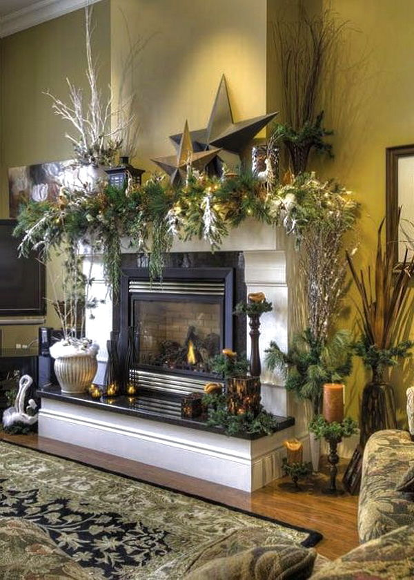 Floral Mantle Decor