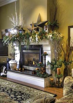 Floral Mantle Decor