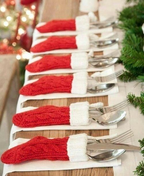 Mini Stocking Silverware Holders