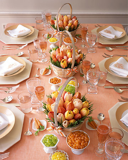 Peachy Keen Tablescape