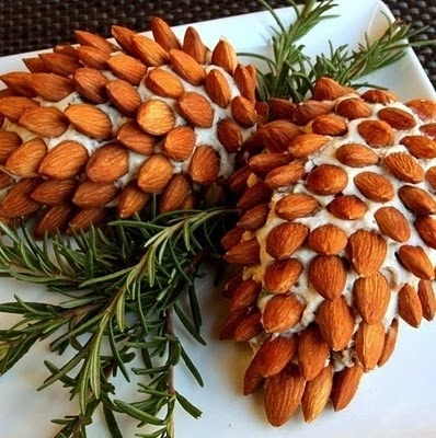Almond Pine Cone Cheese Ball