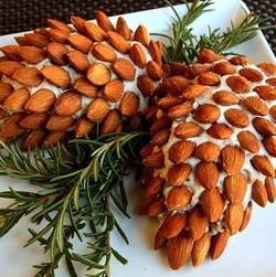 Almond Pine Cone Cheese Ball