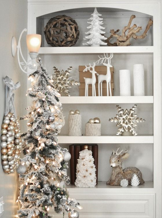 Gold, Silver & White Decor'