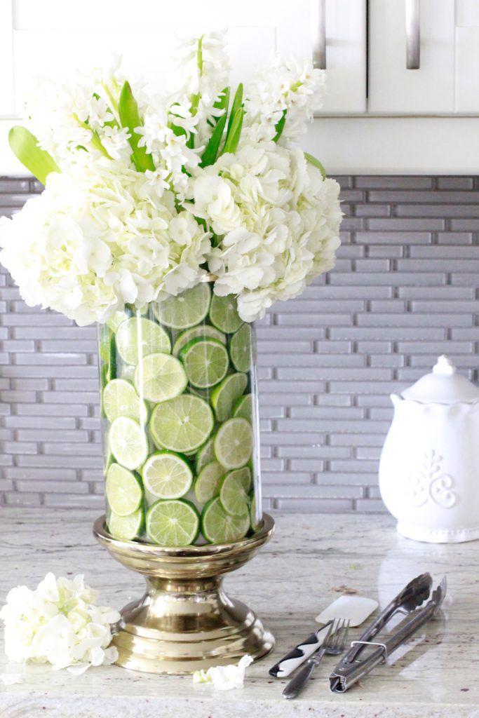 Lime Filled Vase