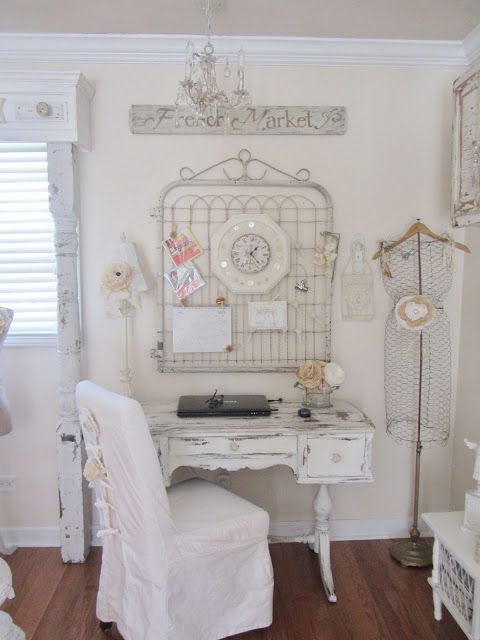 White Vintage Desk Area