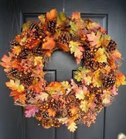 Pinecone Leaf Wreath