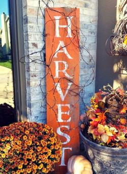 Harvest Sign