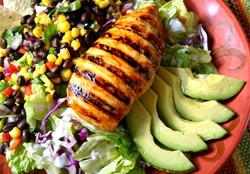 Grilled Chicken w/Salsa & Avocado