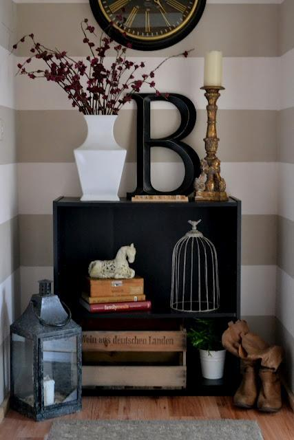 Bold Monogram Cabinet Decor'