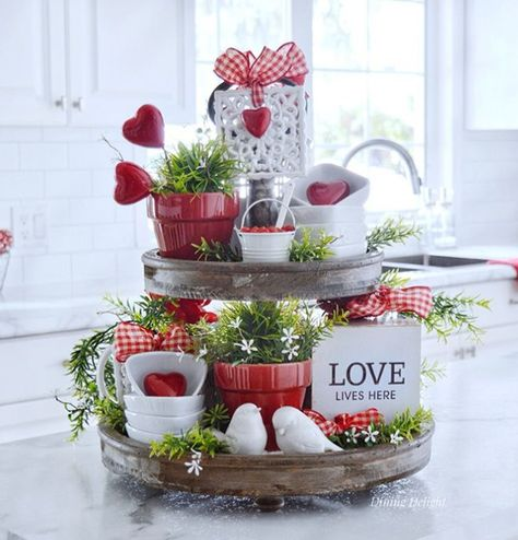 Tiered Valentine Decor