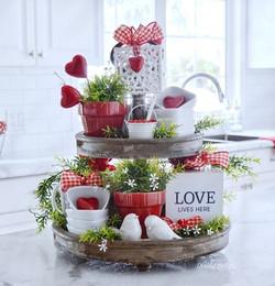 Tiered Valentine Decor