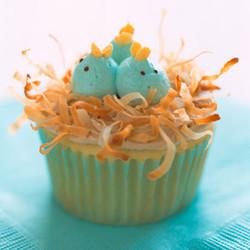 Nesting Baby Bird Cupcakes